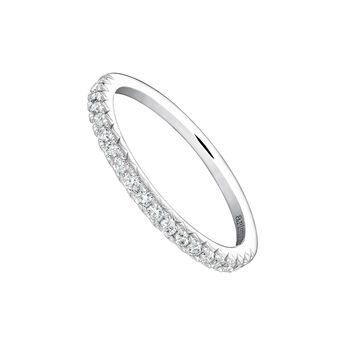 Anillo orla diamantes 0,25 ct oro blanco, J03938-01-25, hi-res