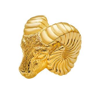 Anillo Marco Polo plata recubierta oro, J03086-02, hi-res