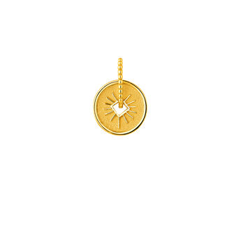 Gold ray  medal pendant, J04285-02, hi-res