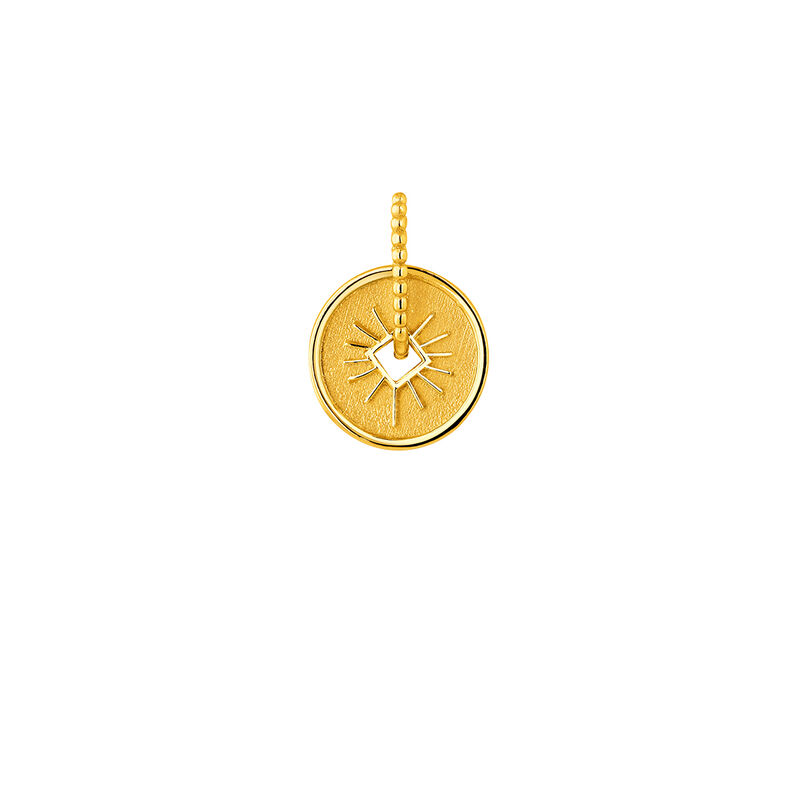 Gold ray  medal pendant
