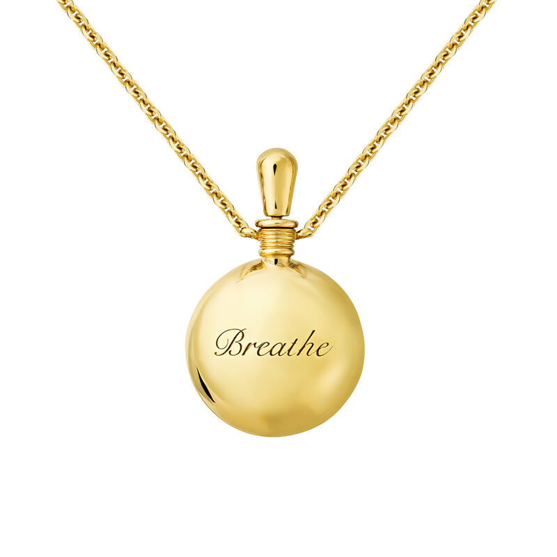 Small necklace coral gold, J04123-02-FOSC-WT, hi-res