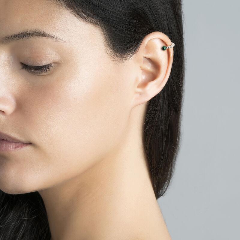 Boucles d'oreilles cartilage malachite argent, J03512-01-WT-MA, hi-res