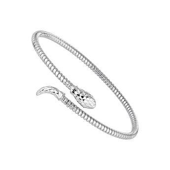 Silver tubogas snake bracelet, J04290-01, hi-res