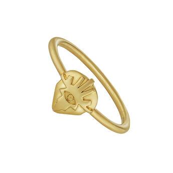 Anillo fantasía plata recubierta oro, J04563-02, hi-res