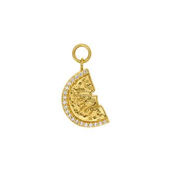 Gold watermelon necklace, J03735-02-WT, hi-res
