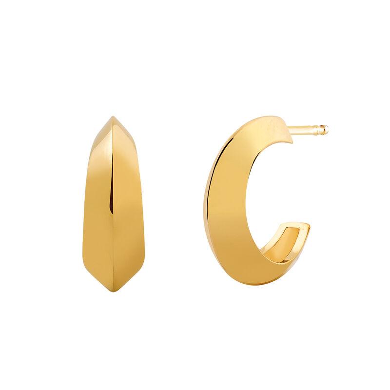 Pendientes aro sección triangular oro, J03098-02, hi-res
