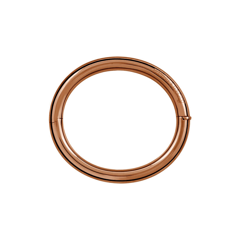 Pulsera rígida tubo liso oro  rosa, J01460-03, hi-res