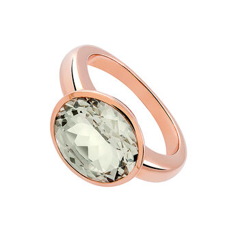 Large rose gold plated quartz solitaire, J03231-03-GQ, hi-res