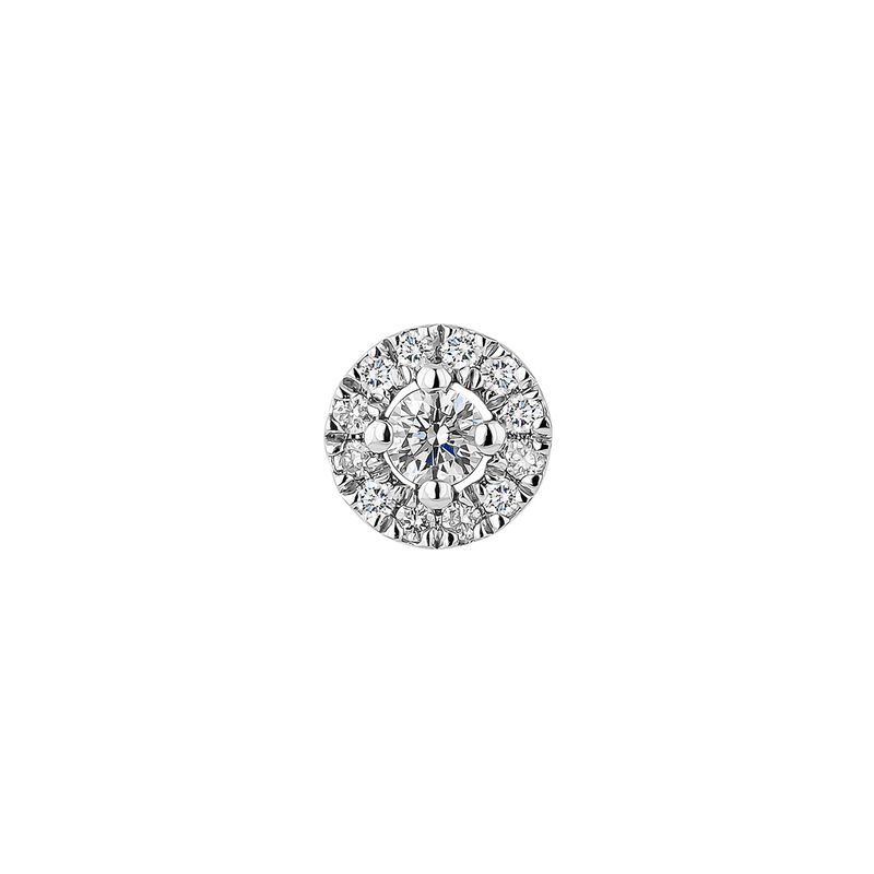 Pendiente orla diamantes 0,05 ct oro blanco, J04224-01-05-05-H, hi-res