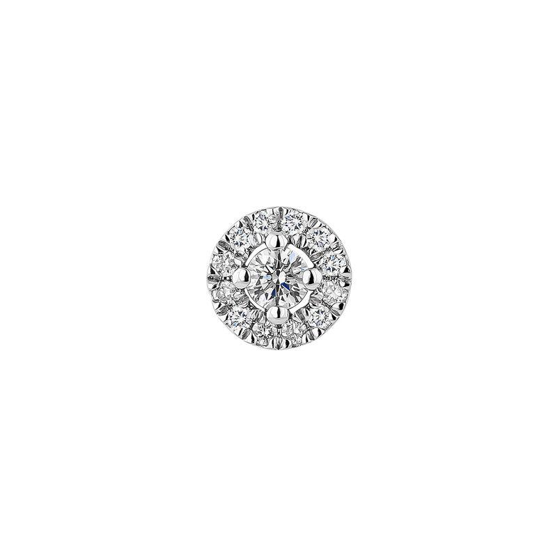 White gold earrings edging diamond 0,05 ct, J04224-01-05-05-H, hi-res