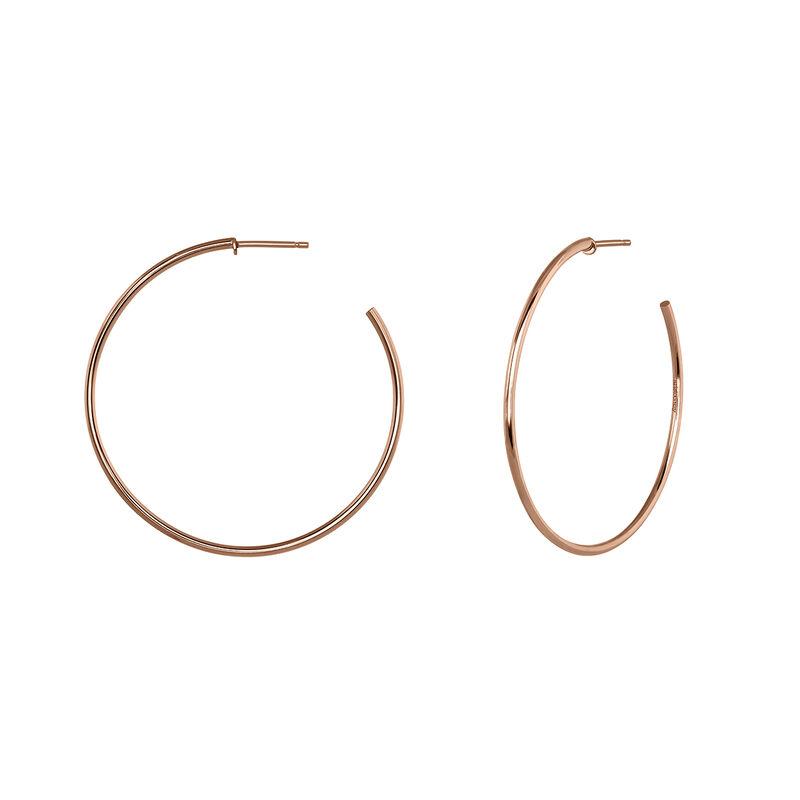 Pendientes de aro fino oro rosa, J04191-03, hi-res
