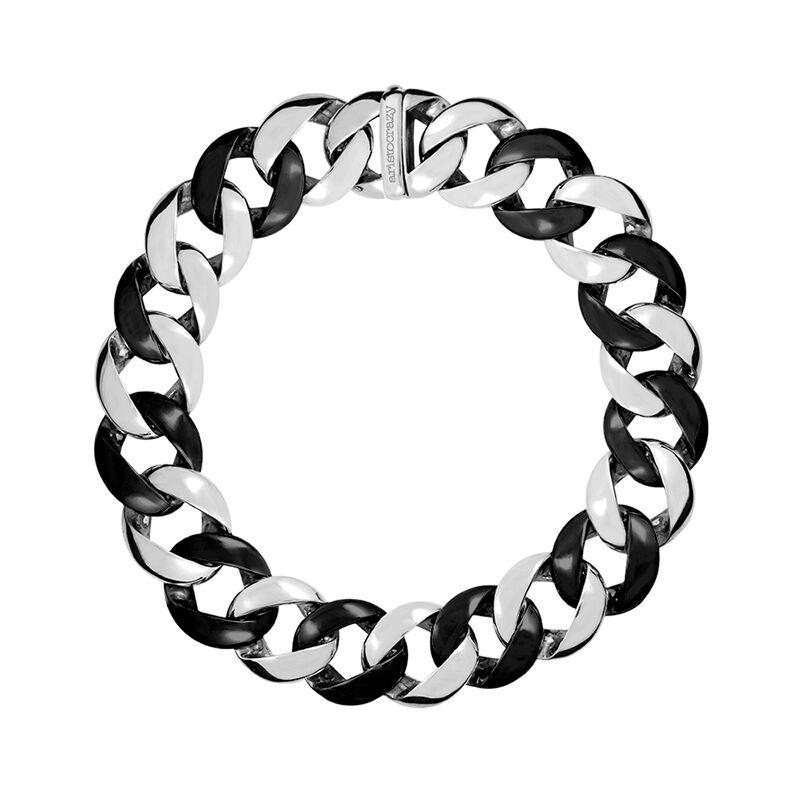 Collar eslabón cerámica y plata, J00910-01-CER, hi-res