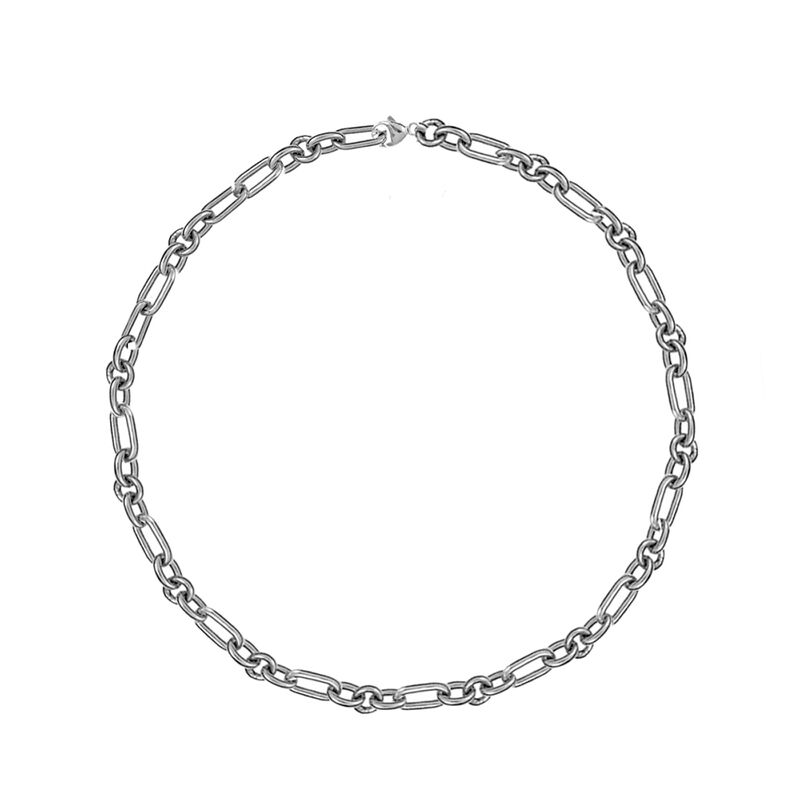 Silver forzá mix links chain, J01336-01, hi-res