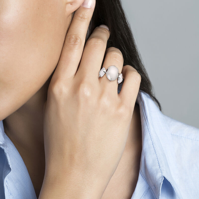 Oval silver multi moonstone ring, J04163-01-WMS, hi-res