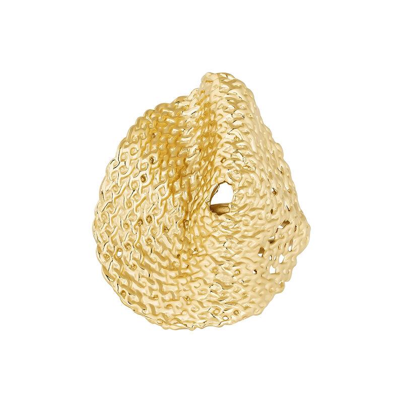 Bague en osier géométrique plaqué or, J04413-02, hi-res