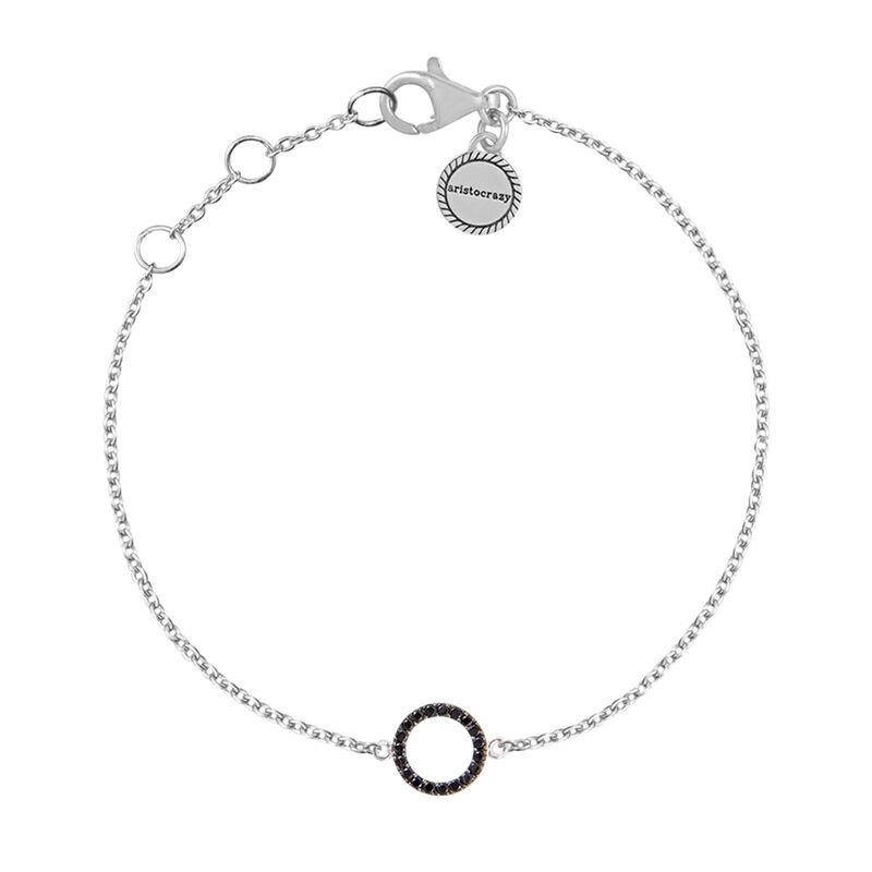 Bracelet cercle spinelles argent, J01624-01-BSN, hi-res