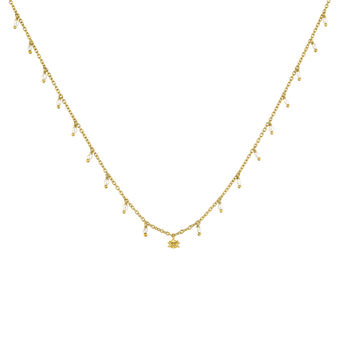 Gold plated silver baroque pearl necklace, J04457-02-WP, hi-res