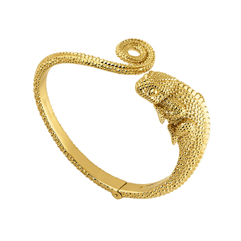 Pulsera rídiga camaleón oro, J04201-02, hi-res