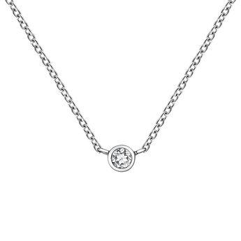 Cadena chatón topacio plata, J03435-01, hi-res