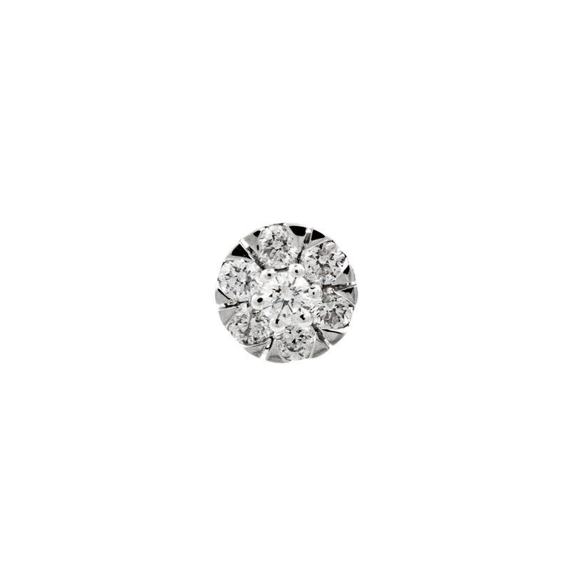 Pendiente roseta diamantes 0,15 oro, J00915-01-15-H, hi-res