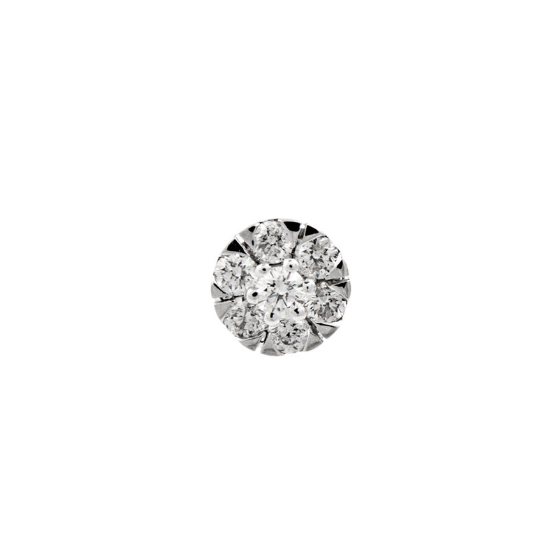 Pendiente roseta diamantes 0,15 ct oro, J00915-01-30-H, hi-res