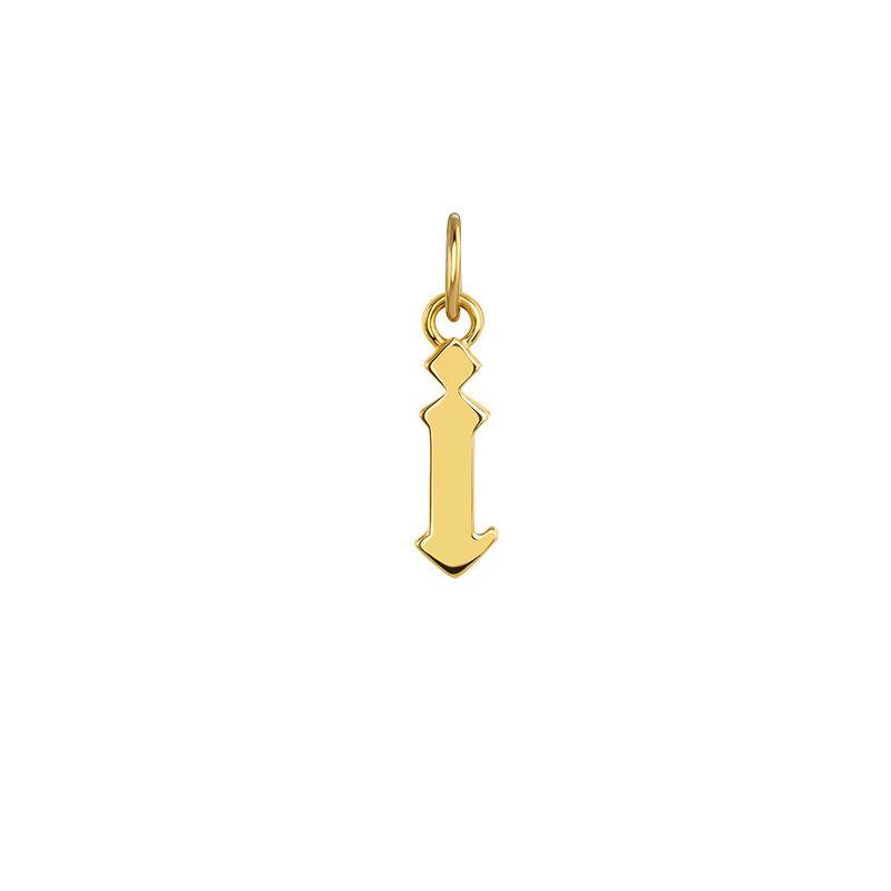 Colgante inicial gótica I plata recubierta oro, J04016-02-I, hi-res