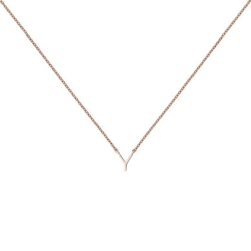 Collier initiale Y or rose, J04382-03-Y, hi-res