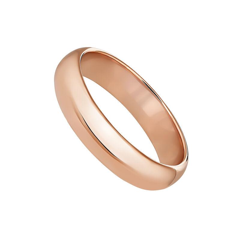 Anillo banda mediano plata recubierta oro rosa, J04101-03, hi-res