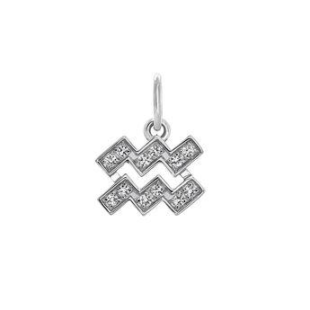 Aquarius silver pendant, J03601-01-WT, hi-res