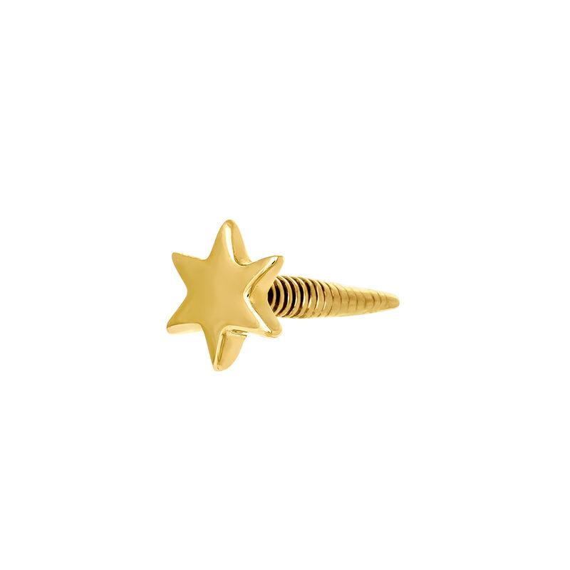 Gold star earring piercing, J03834-02-H, hi-res