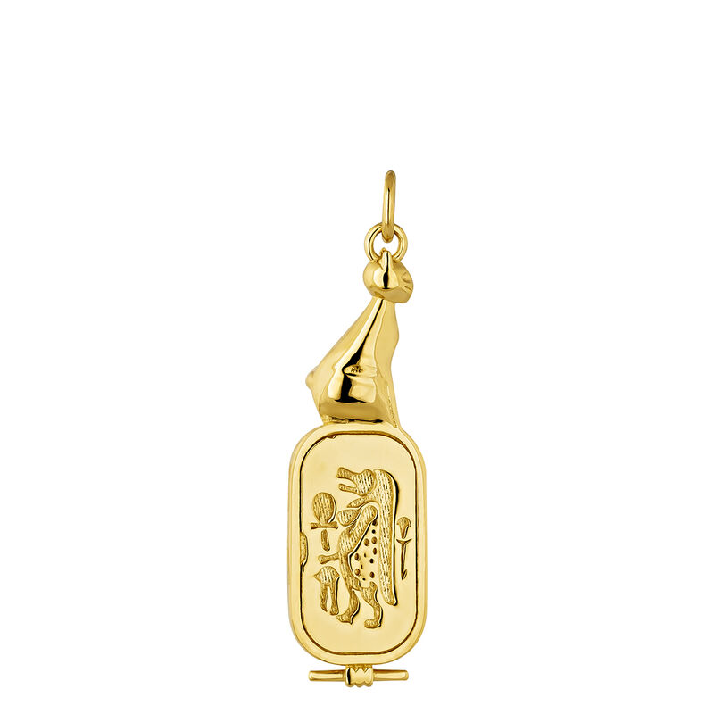 Gold plated Egyptian goddess necklace, J04271-02, hi-res