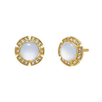 Gold stone earrings, J03493-02-BCWT, hi-res