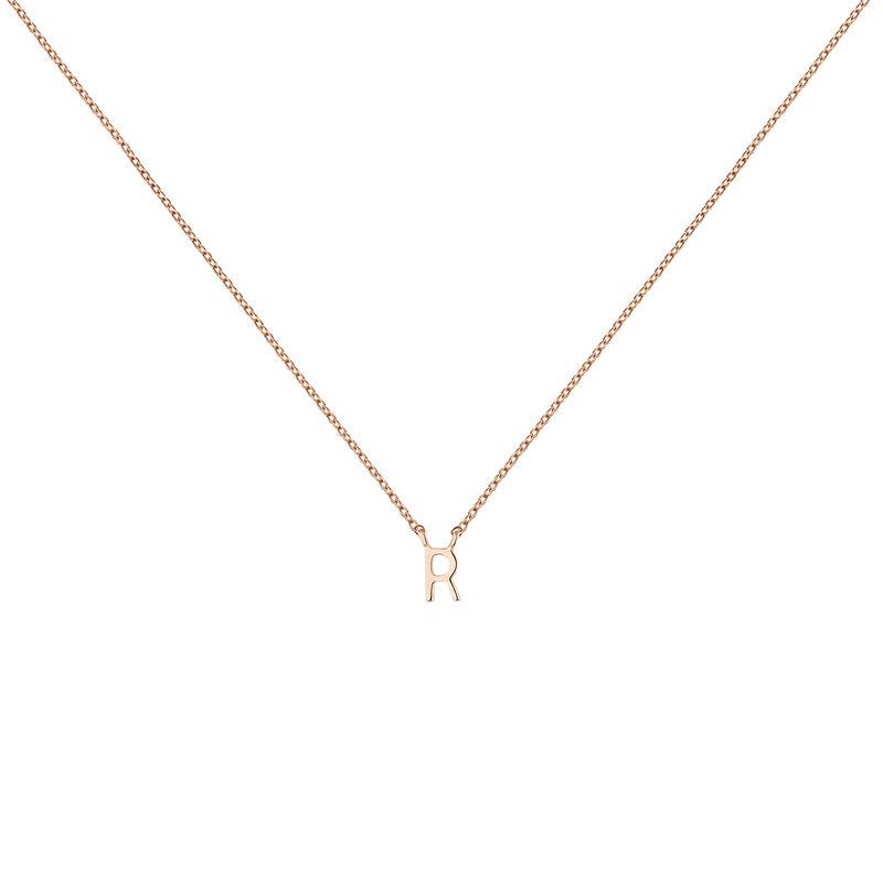 Rose gold Initial R necklace, J04382-03-R, hi-res