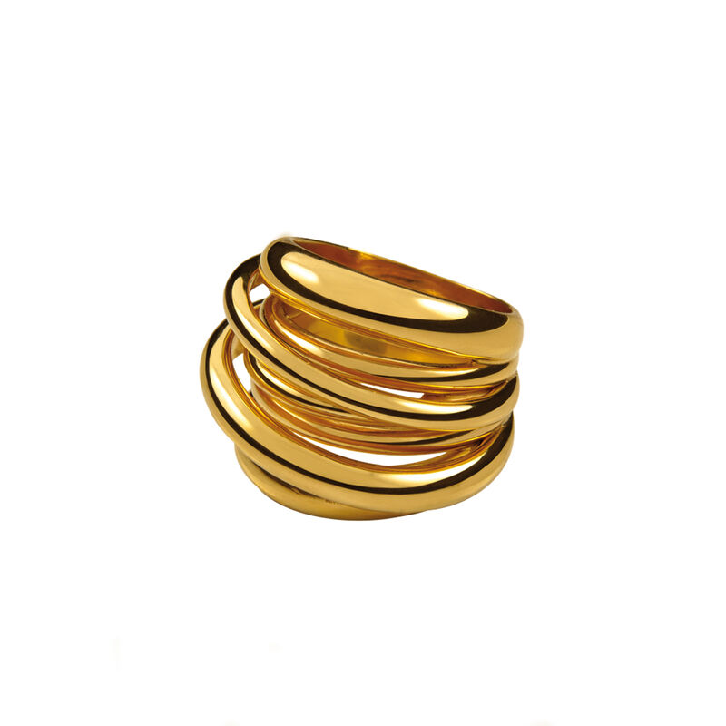 Gold multi-band ring, J00795-02, hi-res