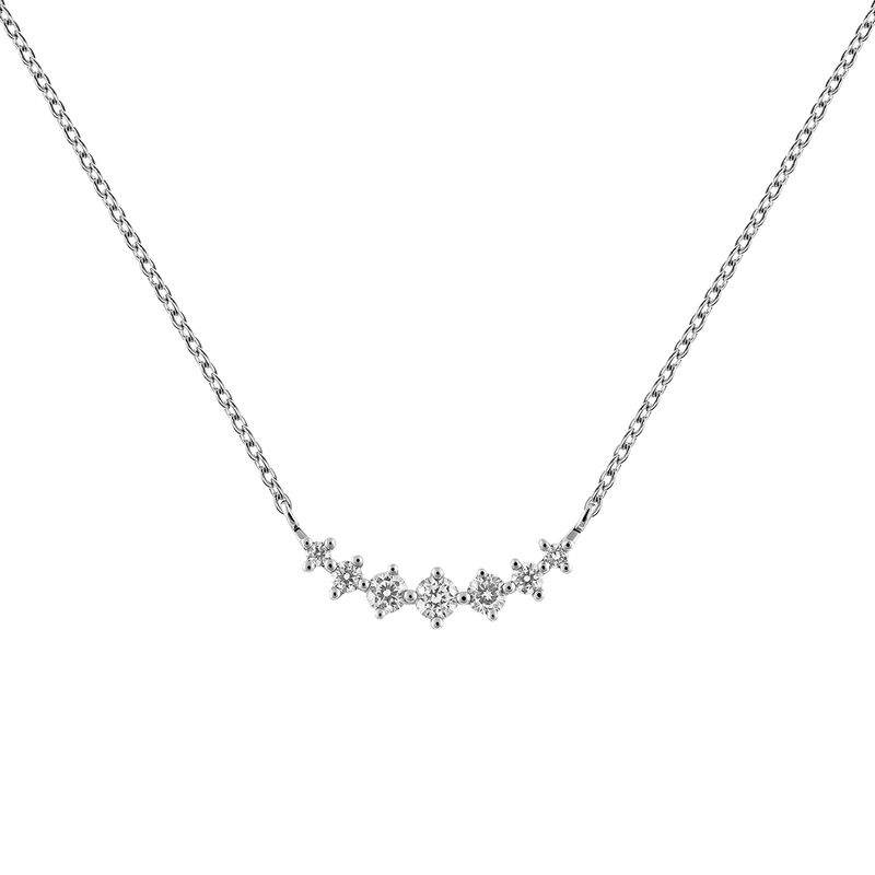 White gold 7 diamonds cross necklace 0.15 ct, J03366-01, hi-res