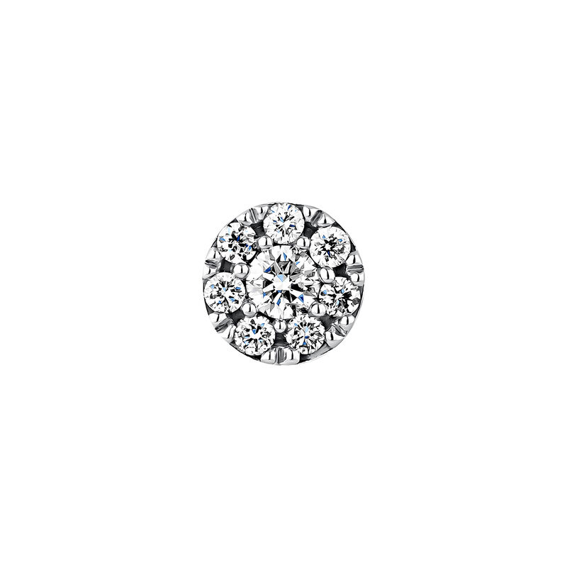 Pendiente roseta diamantes 0,10 ct oro blanco, J04207-01-10-H, hi-res