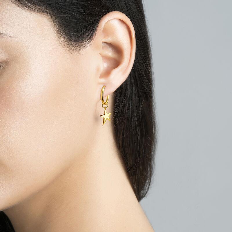 Gold asymmetric star necklace, J03777-02, hi-res