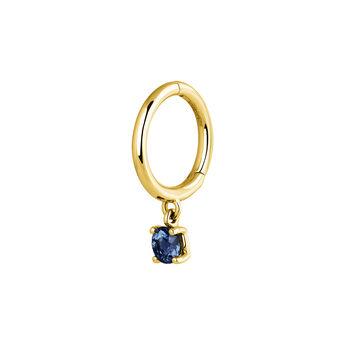 Hoop earring sapphire gold, J04074-02-BS-H, hi-res