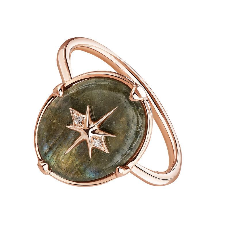 Rose-Gold Star Bohemian Ring, J03891-03-LA-WT, hi-res