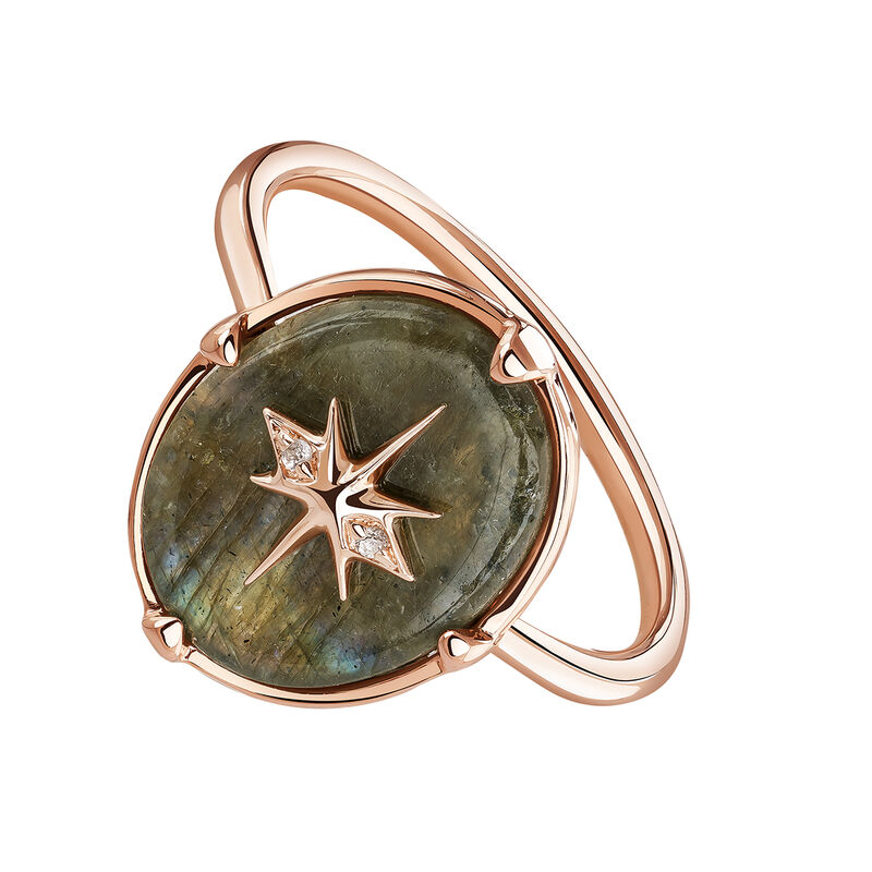 Rose-Gold Star Bohemian Ring, J03891-03-LA-WT, hi-res