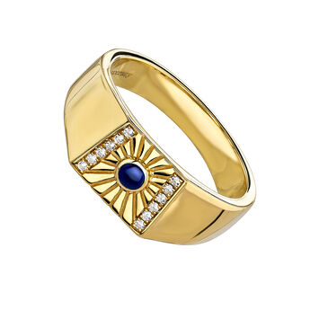 Signet ring lapislazuli gold, J04135-02-WT-LPS, hi-res