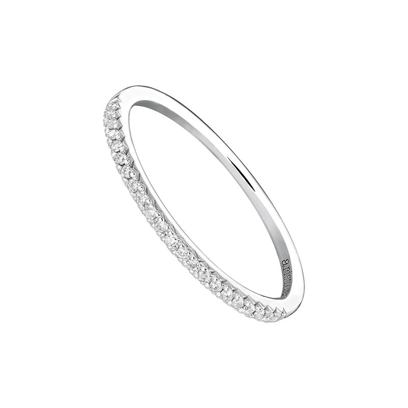 Anillo orla diamantes oro blanco 0,09 ct, J03938-01-09, hi-res