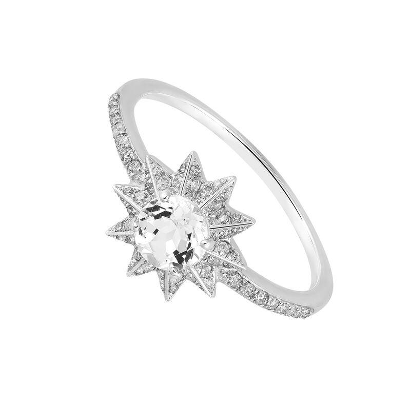 Anillo estrella grande topacio blanco plata, J03300-01-WT-SP, hi-res