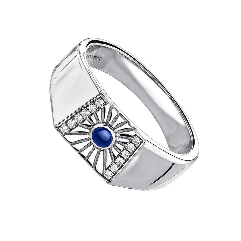 Signet ring lapislazuli silver, J04135-01-WT-LPS, hi-res