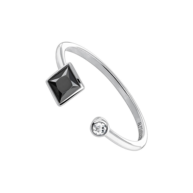 Silver You and me ring with spinels, J04086-01-BSN-WT, hi-res