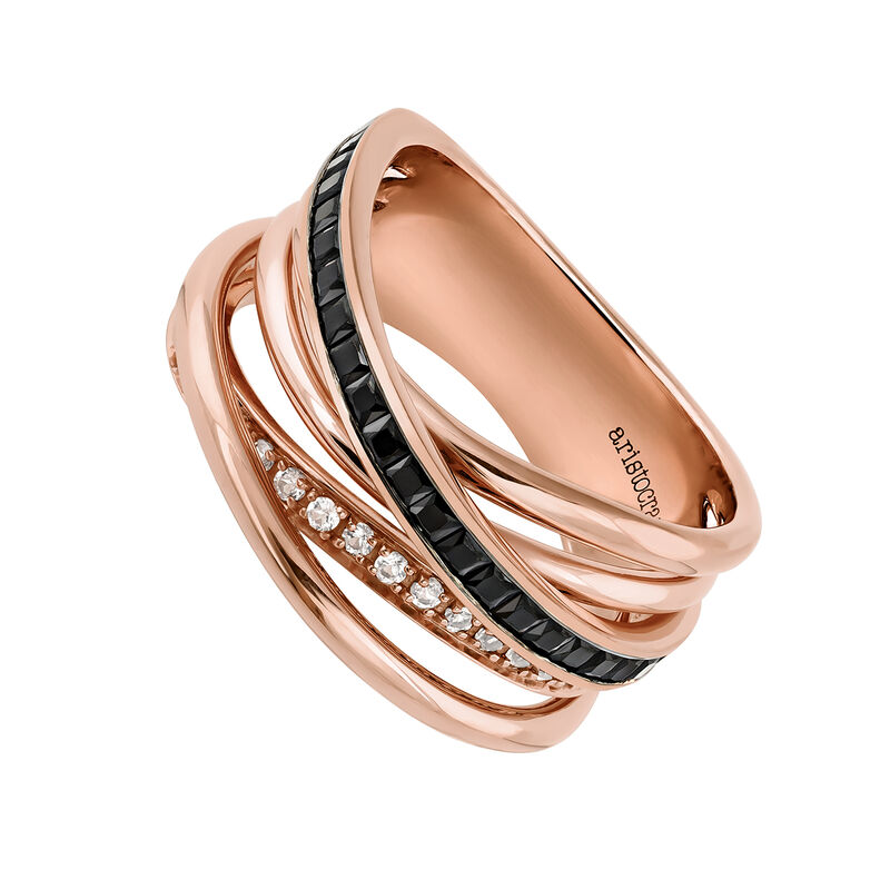 Medium rose gold multi-band ring, J03661-03-BSN-WT, hi-res