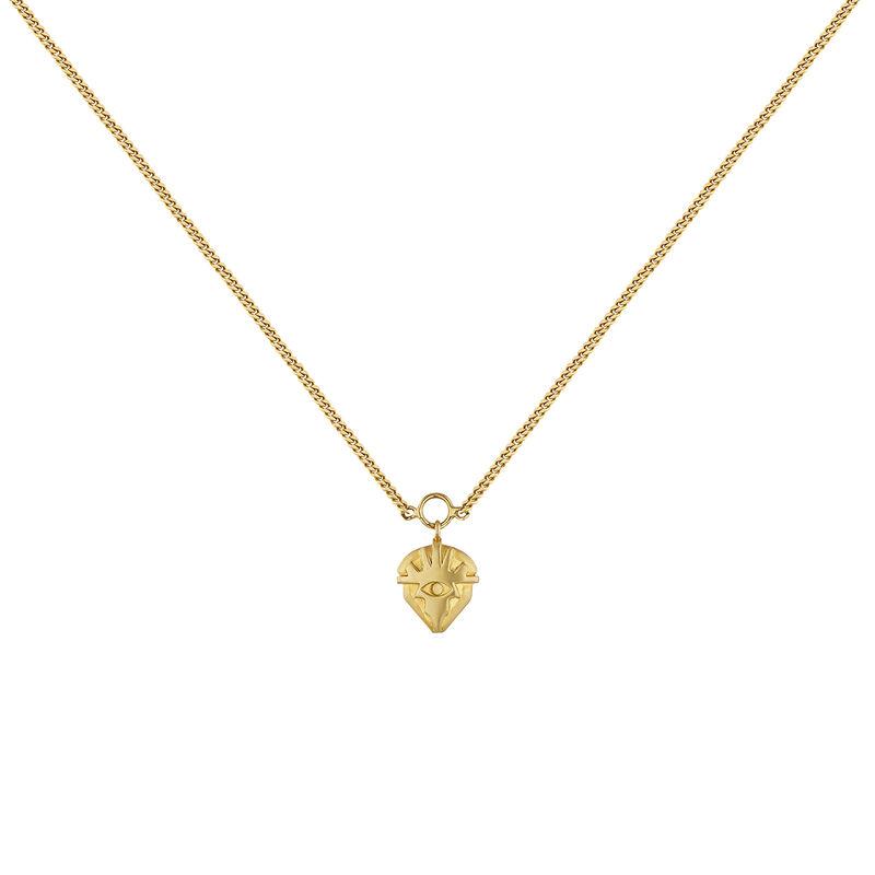 Collar motivo plata recubierta oro, J04552-02, hi-res