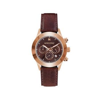 Reloj Soho oro rosa esfera marrón , W0029Q-STBR-LEBR, hi-res