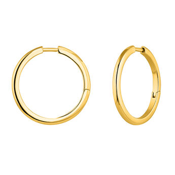 Combinable gold plated hoop earrings, J04643-02, hi-res