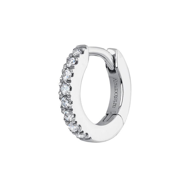 Mini pendiente aro diamantes 0,03 ctoro blanco, J04152-01-H, hi-res